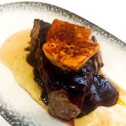 Solomillo de Ternera con Foie y Salsa de Oporto